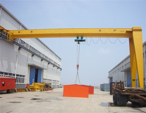 Semi gantry crane in 25 ton is supplied in our group.