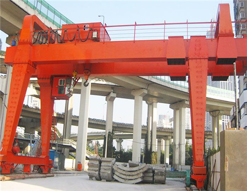 Double girder 50 ton gantry cranes are supplied in our group.