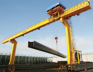 L trype 3 ton gantry cranes are supplied in our group.