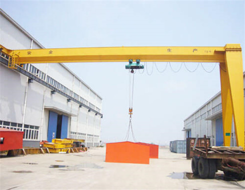 Semi gantry cranes are supplied in our group with the best price and reliable quality.