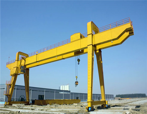doube girder rail mounted gantry crane for sale.