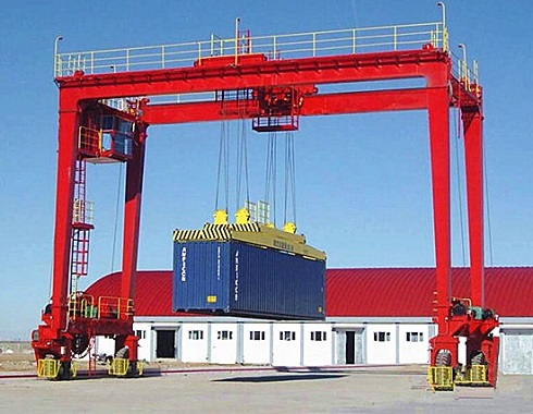 rubber tyred container gantry crane for sale