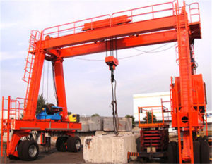 double girder rubber tyred gantry crane for sale.