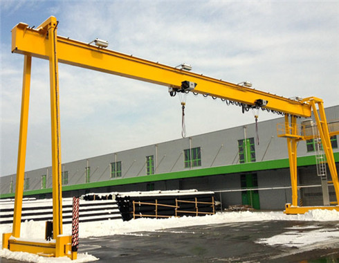 Single girder 6 ton gantry crane for sale