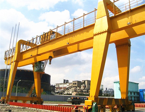 double girder rail mounted gantry crane for sale