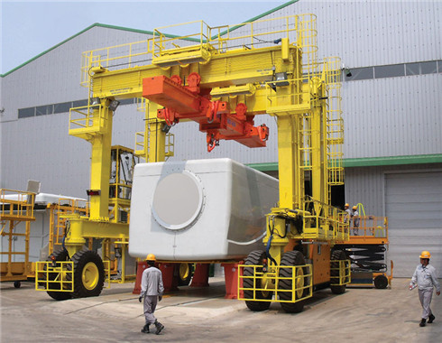 rubber tyred engine gantry crane for sale.