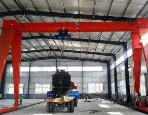 single girder indoor gantry crane for sale