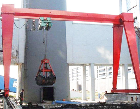 Single Girder Grab Bucket Gantry Crane