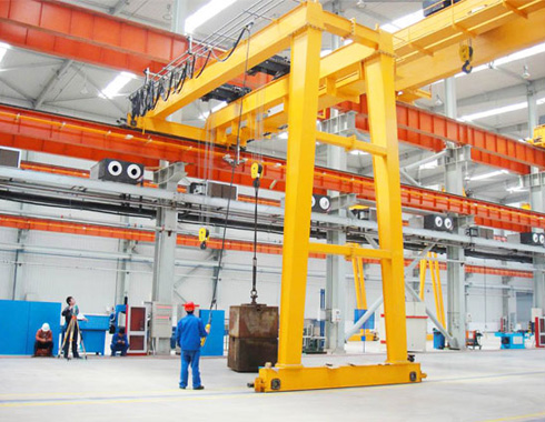 Double Girder Semi-gantry Crane for Sale