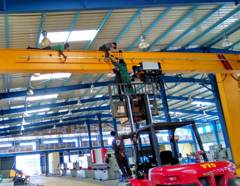 Hoist Runway Support Installation