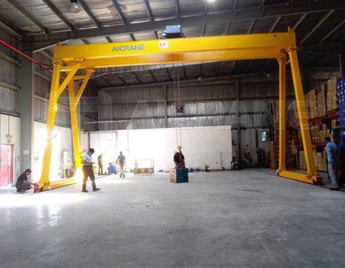 Double Girder Gantry Crane for Warehouse